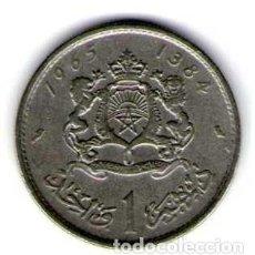 Monedas antiguas de África: MARRUECOS 1 DIRHAM AÑO 1965. Lote 113697671