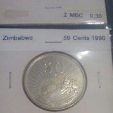 Monedas antiguas de África: ZIMBABWE 50 CÉNITS 1990 SC KM5. Lote 113767124