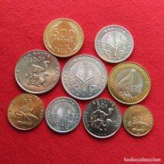 Monedas antiguas de África: DJIBOUTI SERIE 1 2 5 10 20 50 100 250 500 FRANCOS 1991 - 2016 DJIBUTI UNC. Lote 128836306