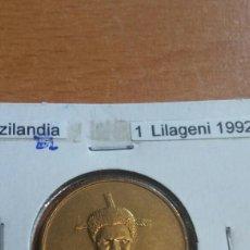 Monedas antiguas de África: SWAZILANDIA 1 LILAGENI 1992 SC. Lote 114835856