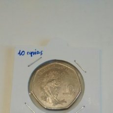 Old Coins of Africa - Moneda de Isla Mauricio. 10 rupias 1997 - 114958006