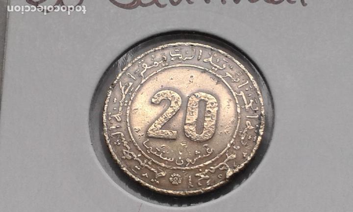 ARGELIA 20 SANTIMAT 1975 (CONMEMORATIVA) (Numismática - Extranjeras - África)