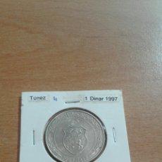 Monedas antiguas de África: TÚNEZ 1 DINAR 1997 EBC KM347. Lote 115645455