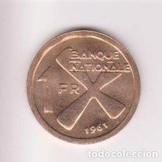 Monedas antiguas de África: MONEDAS EXTRANJERAS - KATANGA - 1 FRANC - 1961 - KM-1. Lote 123397415