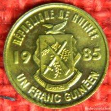Monedas antiguas de África: GUINEA 1 FRANCO, 1985. Lote 116198775