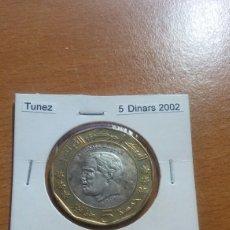 Monedas antiguas de África: TÚNEZ 5 DINARES 2002 SC KM350. Lote 148567997