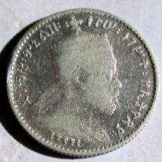 Monedas antiguas de África: ETIOPIA - 1/20 B.- MENELIK II- PLATA. Lote 116409383