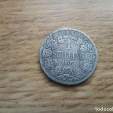 Old Coins of Africa - SUDAFRICA : 1 SHILLING 1897 (PLATA) - 117055723