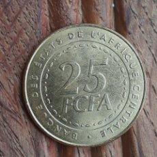 Monedas antiguas de África: MONEDA 25 FRANCOS CFA - GUINEA ECUATORIAL, CAMERUN, CHAD, GABON, CONGO - SIN CIRCULAR. Lote 117939027