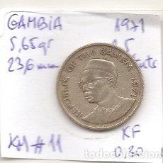 Monedas antiguas de África: GAMBIA 1971. MONEDA DE 25 BUTUTS.. Lote 118603023