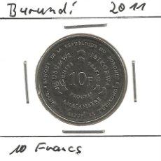 Monedas antiguas de África: BURUNDI - 10 FRANCS 2011 - S / C - ENCARTONADA - VISITA MIS OTROS LOTES Y AHORRA GASTOS DE ENVÍO. Lote 119010603