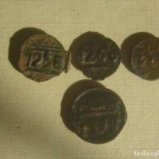 Monedas antiguas de África: MARRUECOS. 4 MONEDAS DE 1 Y 2 FELUS / FALUS DEL SULTÁN MULEY ABDERRAMÁN, DE 1833-1859 (1248-1275). Lote 119530171