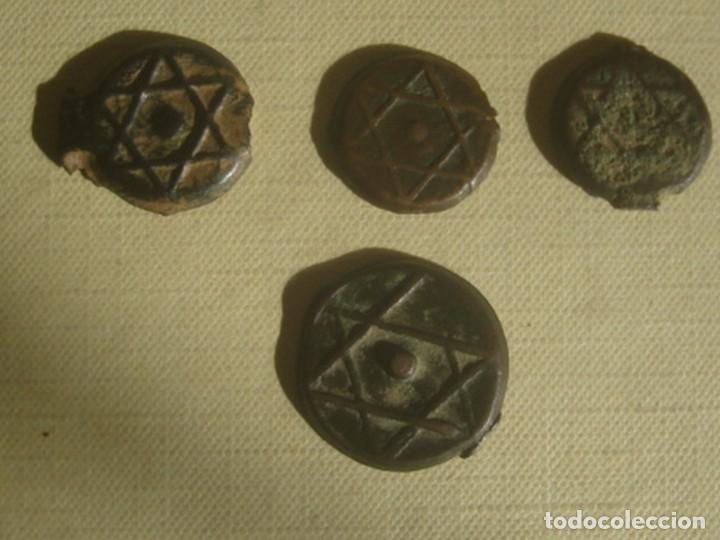 Monedas antiguas de África: Marruecos. 4 monedas de 1 y 2 felus / falus del sultán Muley Abderramán, de 1833-1859 (1248-1275) - Foto 2 - 119530171