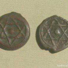 Monedas antiguas de África: MARRUECOS. 2 MONEDAS DIFERENTES DE 2 FELUS / FALUS DE SULEYMAN II (1792-1822), VARIANTES DE KM 96.2. Lote 119532287
