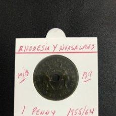 Monedas antiguas de África: RHODESIA Y NYASALAND 1 PENNY 1957 MBC KM 2. Lote 122256787