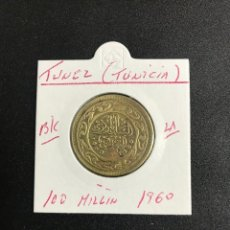 Monedas antiguas de África: TUNEZ (TUNICIA) 100 MILLIN 1960 B/C KM 309. Lote 122261759