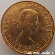 Monedas antiguas de África: MONEDA DE ORO INGLESA DE 1 LIBRA DE 1958 REINADO DE ISABEL II - SIN CIRCULAR - NUEVA -. Lote 122288431