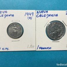 Monedas antiguas de África: 553 ) NUEVA CALEDONIA 2 MONEDAS 50 CENT 1949 ,A, Y 1 FRANCO 2002 ,A,. Lote 122289350