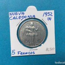 Monedas antiguas de África: 559 ) NUEVA CALEDONIA 5 FRANCOS 1952 ,A, EN BUEN ESTADO. Lote 122294938