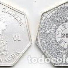 Monedas antiguas de África: MONEDA PLATA ZAMBIA AÑO 2001 4000 KWACHA 23,30 GR.. Lote 122971843