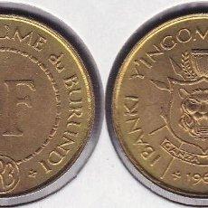 Monedas antiguas de África: BURUNDI 1 FRANC 1965. Lote 124417591
