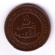 Monedas antiguas de África: MARRUECOS 10 MAZUNAS BRONCE 1321 BI BIRMINGHAM (ENGLAND 1903-105). Lote 124660639