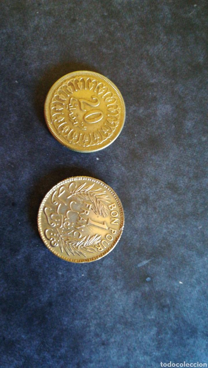 2 MONEDAS TUNEZ (Numismática - Extranjeras - África)