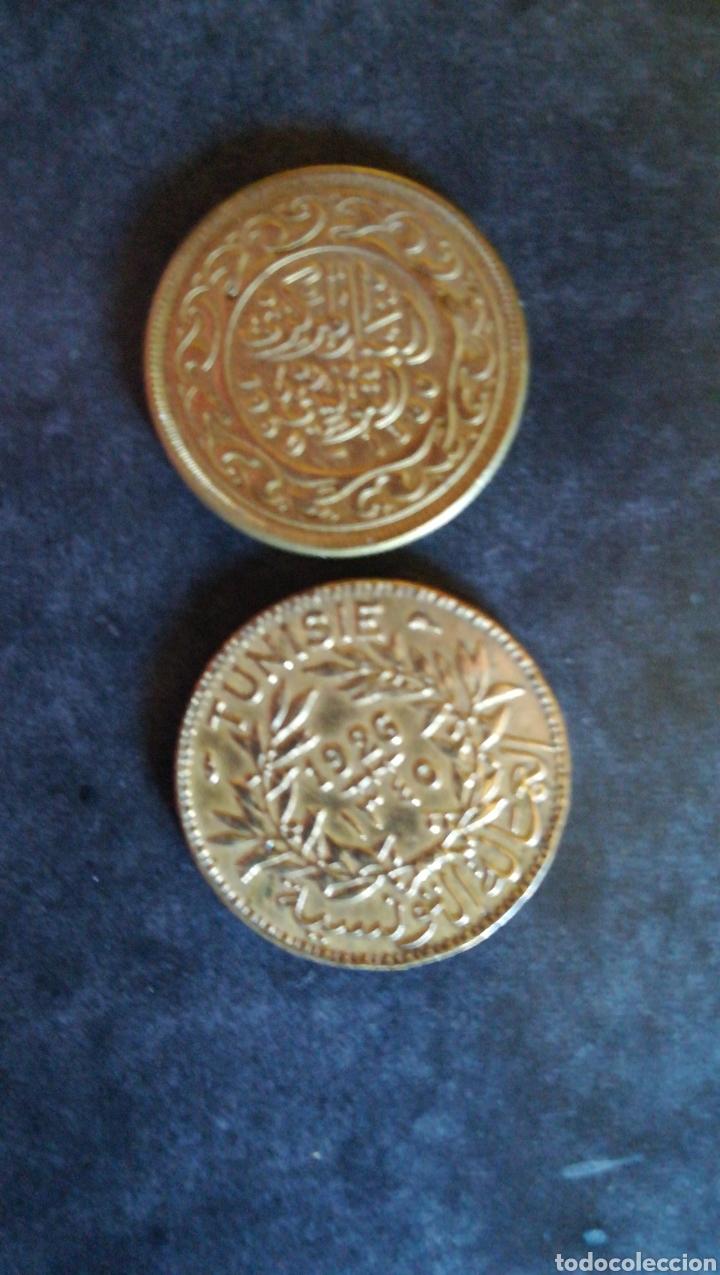 Monedas antiguas de África: 2 monedas tunez - Foto 2 - 125668631