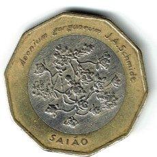 Monedas antiguas de África: CABO VERDE 100 ESCUDOS 1994 SAIAO - AENIUM GORGONEUM - ESPECIE ENDÉMICA CABO VERDE. Lote 126931079
