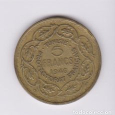 Monedas antiguas de África: MONEDAS EXTRANJERAS - TUNEZ - 5 FRANCS 1946 (ALBR) KM-273 (MBC). Lote 127659463