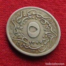 Monedas antiguas de África: EGYPT EGIPTO 5/10 GHIRSH 1327/2 1910 L6-3. Lote 128270383