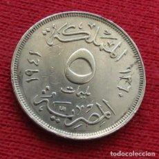 Monedas antiguas de África: EGYPT EGIPTO 5 MIL. 1360 1941 L5-6. Lote 128271395
