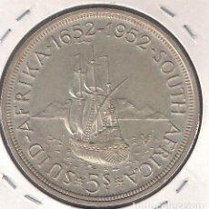 Monedas antiguas de África: MONEDA 5 CHELINES (SHILLINGS) DE SUDÁFRICA DE 1952. PLATA. SIN CIRCULAR- WORLD COINS-KM41. (ME1948). Lote 129534043