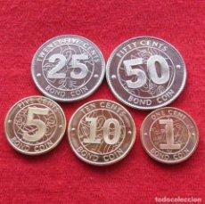 Monedas antiguas de África: ZIMBABWE SERIE 1 5 10 25 50 CENT 2014 UNC. Lote 195154123