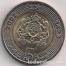 Monedas antiguas de África: MARRUECOS - 5 DIRHAM 2002 BIMETÁLICA - KM#109 - S/C. Lote 130845476
