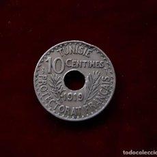 Monedas antiguas de África: 10 CENTIMOS 1919 TUNEZ. Lote 131421858