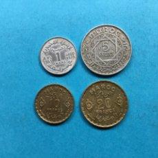 Monedas antiguas de África: 871 ) MARRUECOS, 4 MONEDAS TODAS DISTINTAS,, EN MUY BUEN ESTADO. Lote 132213046