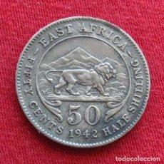 Monedas antiguas de África: AFRICA ORIENTAL 50 CENTS 1942. Lote 132926626