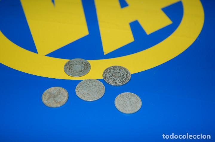 MONEDAS DE 5 FRANCS MAROC + 2 FRANCS MAROC-LOTE DE 5 MONEDAS (Numismática - Extranjeras - África)