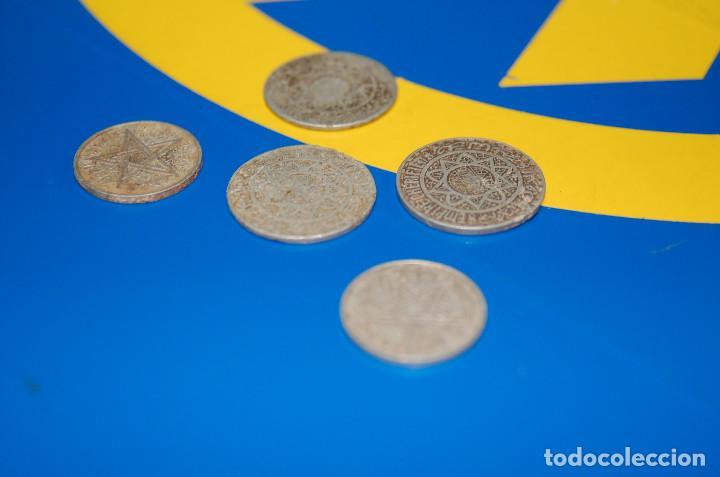 Monedas antiguas de África: MONEDAS DE 5 FRANCS MAROC + 2 FRANCS MAROC-LOTE DE 5 MONEDAS - Foto 3 - 133505502