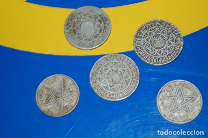Monedas antiguas de África: MONEDAS DE 5 FRANCS MAROC + 2 FRANCS MAROC-LOTE DE 5 MONEDAS - Foto 4 - 133505502