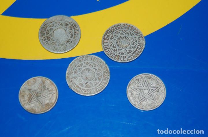 Monedas antiguas de África: MONEDAS DE 5 FRANCS MAROC + 2 FRANCS MAROC-LOTE DE 5 MONEDAS - Foto 5 - 133505502