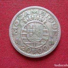 Monedas antiguas de África: MOZAMBIQUE. COLONIA PORTUGUESA. 20 ESCUDOS, 1955. PLATA, SIN LIMPIAR.. Lote 133646602
