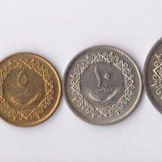 Monedas antiguas de África: MONEDAS EXTRANJERAS - LIBYA - 1-5-10-Y 20 DIRHAMS 1975 - KM-12 AL 15 (SC-). Lote 136432214