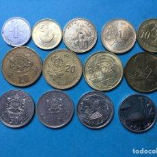 Monedas antiguas de África: 1170 ) MARRUECOS,, 13 MONEDAS TODAS DISTINTAS FECHAS Y TIPO,, EN ESTADO MUY BUENO,,. Lote 137543457