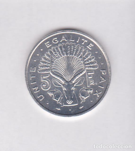 MONEDAS EXTRANJERAS - DJIBOUTI - 5 FRANCS 1991 - KM-22 (SC) (Numismática - Extranjeras - África)