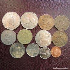 Monedas antiguas de África: GHANA 12 MONEDAS TODAS DIFERENTAS 1 5 10 20 50 100 200 500 PESEWA CEDI 1 PENNY 1958 - 2007. Lote 140045142