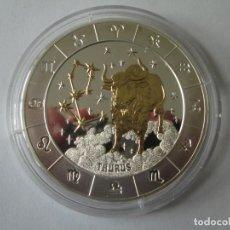 Monedas antiguas de África: RWANDA * 1000 FRANCOS 2009 * TAURUS * 3 ONZAS DE PLATA PURA PROOF. Lote 140278754