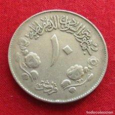 Monedas antiguas de África: SUDAN 10 GHIRSH 1971 KM# 52 . Lote 142997134