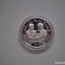 Monnaies anciennes d'Afrique: 10 DOLARES PLATA 1997 SIERRA LEONA. DIANA - THE PEOPLES PRINCESS AIDS CAMPAIG. PROOF. Lote 143759462